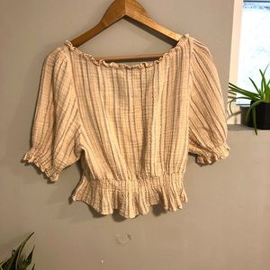 American Eagle Outfitters Tops - American Eagle Boho Off the Shoulders Crop Top